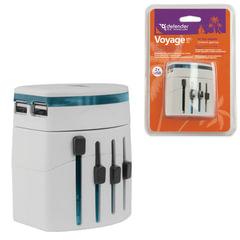 Зарядное устройство сетевое универсальное (100-240 В) DEFENDER Voyage Epc-21, 5 V/<wbr/>2,1 А, белое