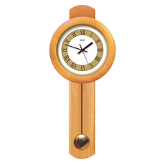 Часы настенные САЛЮТ ДС-1МБ27-803, с маятником, круг, бело-золотые, деревянная рамка, 71×31×6 см