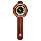 Часы настенные САЛЮТ ДС-2МБ28-804, с маятником, круг, черно-золотые, деревянная рамка, 81×31×6,5 см