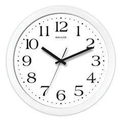 Часы настенные САЛЮТ П-Б7-015, круг, белые, белая рамка, 28×28×4 см