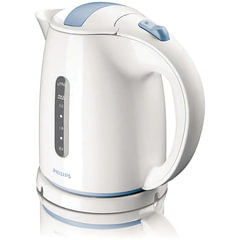 Чайник PHILIPS HD4646/<wbr/>70, закрытый нагревательный элемент, объем 1,5 л, мощность 2400 Вт, пластик, белый/<wbr/>голубой