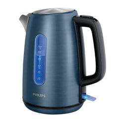 Чайник PHILIPS HD9358/<wbr/>11, закрытый нагревательный элемент, объем 1,7 л, мощность 2200 Вт, сталь, подсветка, синий