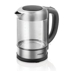 Чайник PHILIPS HD9342/<wbr/>01, закрытый нагревательный элемент, объем 1,5 л, мощность 2200 Вт, стекло, серебристый