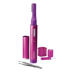 Триммер для лица женский PHILIPS HP6390/<wbr/>10, 3 насадки, беспроводной, розовый