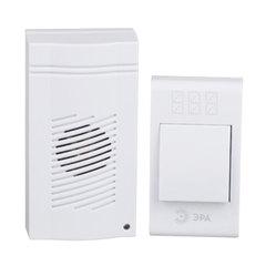 Звонок беспроводной «ЭРА С51», 32 мелодии, подсветка динамика, до 100 м, IP20, белый