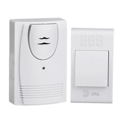 Звонок беспроводной «ЭРА С61», 32 мелодии, подсветка динамика, до 100 м, IP20, белый