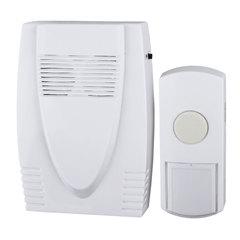 Звонок беспроводной «ЭРА C71», 6 мелодий, подсветка динамика, до 100 м, IP44, белый