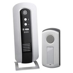 Звонок беспроводной «ЭРА C108», 6 мелодий, подсветка динамика, регулятор громкости, до 100 м, IP44, белый