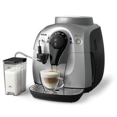 Кофемашина PHILIPS HD8654/<wbr/>59, 1 л, 1400 Вт, 15 бар, емкость для зерен 180 г, автокапучинатор, серебристо-черная