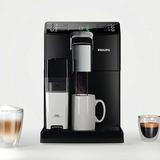 Кофемашина PHILIPS HD8848/<wbr/>09, 1850 Вт, объем 1,8 л, емкость для зерен 250 г, автокапучинатор, черная