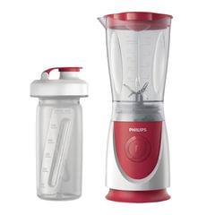 Блендер стационарный PHILIPS HR2872/<wbr/>00, 350 Вт, 1 скорость, чаша 0,6 л, пластик, бутылочка, красный/<wbr/>белый