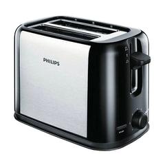 Тостер PHILIPS HD2586/<wbr/>20, 950 Вт, 2 тоста, 7 режимов, металл, черный/<wbr/>серебристый