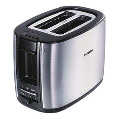 Тостер PHILIPS HD2658/<wbr/>20, 950 Вт, 2 тоста, 7 режимов, подогрев, разморозка, металл, серебристый