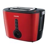 Тостер PHILIPS HD2636/<wbr/>40, 1000 Вт, 2 тоста, 7 режимов, подогрев, разморозка, металл, красный