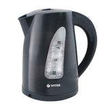 Чайник VITEK VT-1164, закрытый нагревательный элемент, объем 1,7 л, 2200 Вт, пластик, черный
