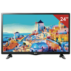 "Телевизор LG 24"" (60,96 см) 24LH451U, LED, 1366×768, HD Ready, 16:9, 50 Гц, HDMI, USB, черный, 3,4 кг"
