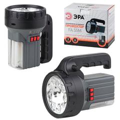 Фонарь светодиодный «ЭРА» прожектор аккумуляторный FA55M, 9xLED, галоген10W, 6V2.5Ah, заряд от 220 V
