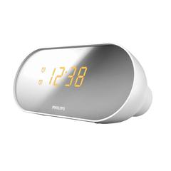 Часы-радиобудильник PHILIPS AJ2000/<wbr/>12, зеркальный дисплей, FM-диапазон, 2 сигнала, белый