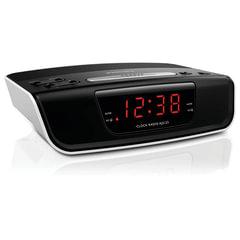 Часы-радиобудильник PHILIPS AJ3123/<wbr/>12, ЖК-дисплей, FM-дисплей, 2 сигнала, черный