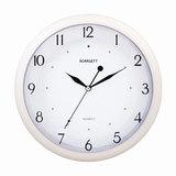 Часы настенные SCARLETT SC-55I, круг, белые, белая рамка, 31,8×31,8×4,3 см