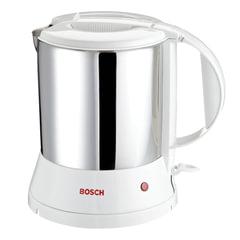 Чайник BOSCH TWK1201N, 1,7 л, 1800 Вт, закрытый нагревательный элемент, нержавеющая сталь, белый