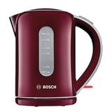 Чайник BOSCH TWK7604, 1,7 л, 2200 Вт, закрытый нагревательный элемент, пластик, красный