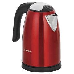 Чайник BOSCH TWK7804, 1,7 л, 2200 Вт, закрытый нагревательный элемент, нержавеющая сталь, красный