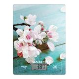 Весы кухонные SCARLETT SC-KS57P20 «Цветы», электронный дисплей, max вес 8 кг, тарокомпенсация, стекло