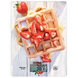 Весы кухонные SCARLETT SC-KS57P16 «Выпечка», электронный дисплей, max вес 5 кг, тарокомпенсация, стекло