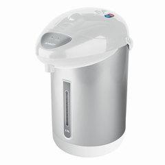 Термопот SCARLETT SC-ET10D10, 2,5 л, 750 Вт, 1 температурный режим, ручной насос, сталь, белый/<wbr/>серебристый