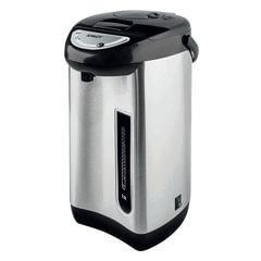 Термопот SCARLETT SC-ET10D01, 3,5 л, 750 Вт, 1 температурный режим, ручной насос, сталь, черный/<wbr/>серебристый