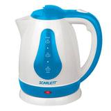 Чайник SCARLETT SC-EK18P29, 1,8 л, 1700 Вт, закрытый нагревательный элемент, пластик, белый/<wbr/>синий