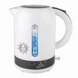 Чайник SCARLETT SC-EK18P38, 1,7 л, 2200 Вт, закрытый нагревательный элемент, пластик, белый/<wbr/>серый