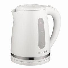 Чайник SCARLETT SC-EK18P34, 1,7 л, 2200 Вт, закрытый нагревательный элемент, пластик, белый