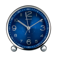 Часы-будильник SCARLETT SC-AC1004N, электронный сигнал, пластик, синие
