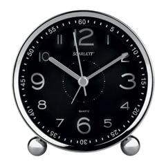 Часы-будильник SCARLETT SC-AC1005B, электронный сигнал, пластик, черные