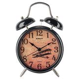 Часы-будильник SCARLETT SC-AC1009B, повтор сигнала, механический сигнал, пластик/<wbr/>металл, черные