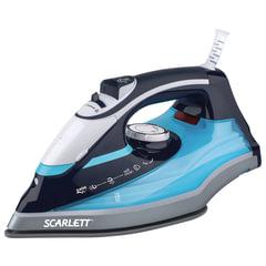 Утюг SCARLETT SC-SI30K18, 2400 Вт, терморегулятор, антипригарная поверхность, экорежим, черный/<wbr/>голубой