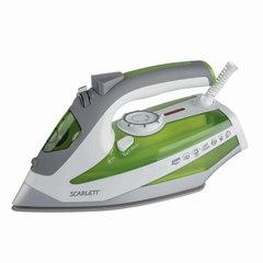 Утюг SCARLETT SC-SI30K08, 2600 Вт, терморегулятор, антипригарная поверхность, самоочистка, белый/<wbr/>зеленый