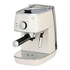Кофеварка рожковая DELONGHI ECI 341.W, 1100 Вт, объем 1 л, ручной капучинатор, белая