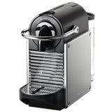 Кофемашина капсульная DELONGHI Nespresso EN 125.S, 1260 Вт, объем 0,7 л, серебристая + капсулы на 16 чашек