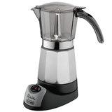 Кофеварка гейзерная DELONGHI EMK9, 450 Вт, объем 0,9 л, подогрев, автовыключение, черный/<wbr/>серебристый
