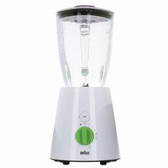 Блендер стационарный BRAUN JB3060WH, 800 Вт, 5 скоростей, чаша 1,75 л, функция «Турбо», стекло, белый