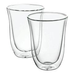 Набор кофейный DELONGHI для латте на 2 персоны, стекло, 220 мл, прозрачный