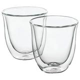 Набор кофейный DELONGHI для капучино на 6 персон, стекло, 190 мл, прозрачный