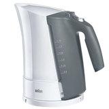 Чайник BRAUN WK-500.WH, 1,7 л, 3000 Вт, скрытый нагревательный элемент, пластик, белый/<wbr/>серый