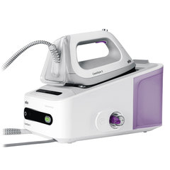 Парогенератор BRAUN IS7043WH, 2400 Вт, 7 Бар, пар 125 г/<wbr/>мин, паровой удар 400 г/<wbr/>мин, 2 л, белый/<wbr/>фиолетовый
