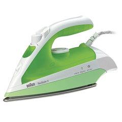 Утюг BRAUN TS330С, 2000 Вт, керамическое покрытие, самоочистка, белый/<wbr/>зеленый
