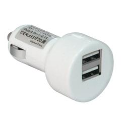 Зарядное устройство автомобильное DEFENDER UCA-15, 2 порта USB, выходной ток 2A/<wbr/>1А, белое, блистер