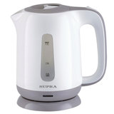 Чайник SUPRA KES-1724, 1,7 л, 2200 Вт, закрытый нагревательный элемент, пластик, белый/<wbr/>серый
